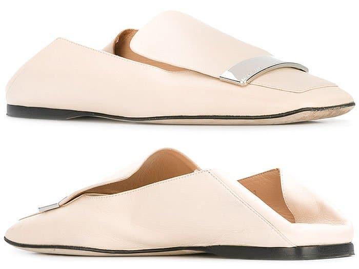 Sergio Rossi Sr1 square-toe flat loafers