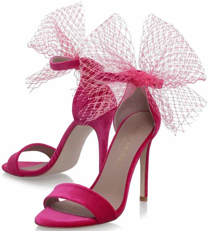 Kurt Geiger 'Suzette' Sandals With Netted Oversized Bow Trim