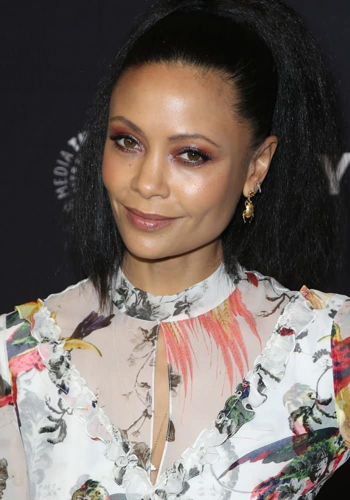"""Thandie Newton at the 34th annual PaleyFest screening of """"Westworld"""" at The Paley Center in Los Angeles on March 25, 2017"""