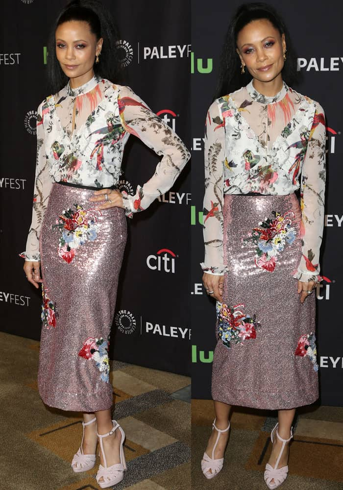 Thandie shows off her styling prowess in head-to-toe British designers
