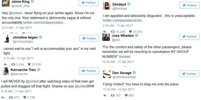 Celebs Are Appalled After Passenger Was Dragged From United Airlines Flight