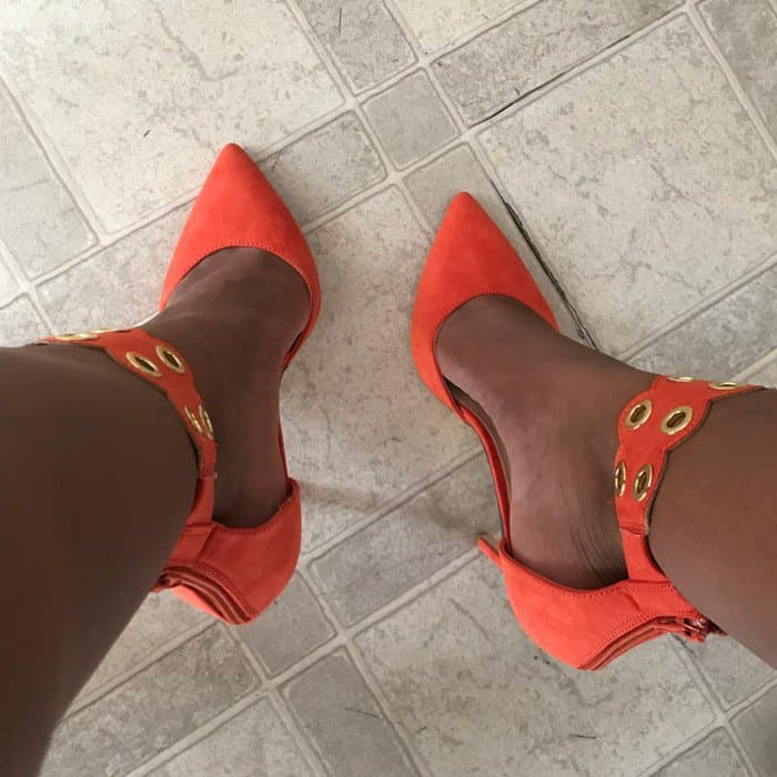 Grommeted Ankle Strap 'Wenn' Pumps