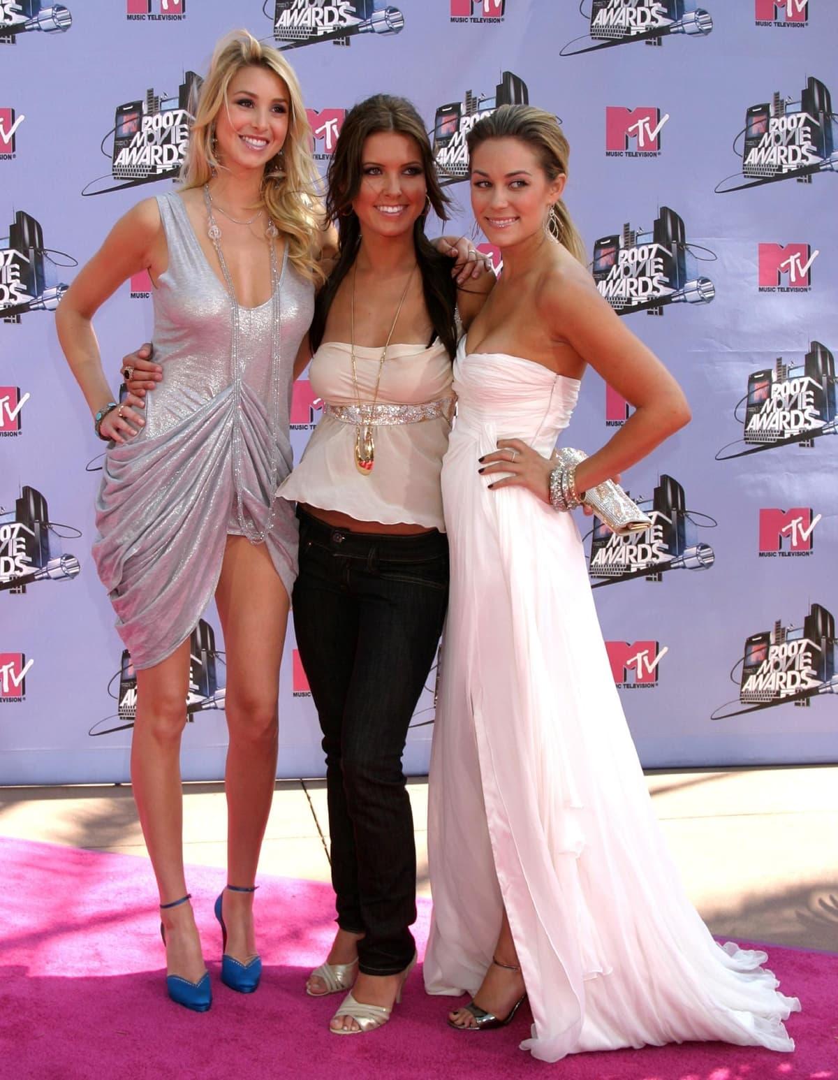 Whitney Port, Audrina Patridge, and Lauren Conrad attend the 2007 MTV Movie Awards