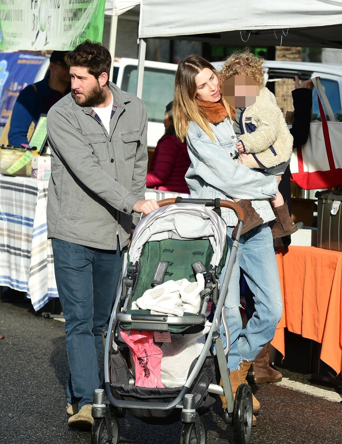 Whitney Port and husband Tim Rosenman take their son Sonny Sanford Rosenman to the Farmers' Market