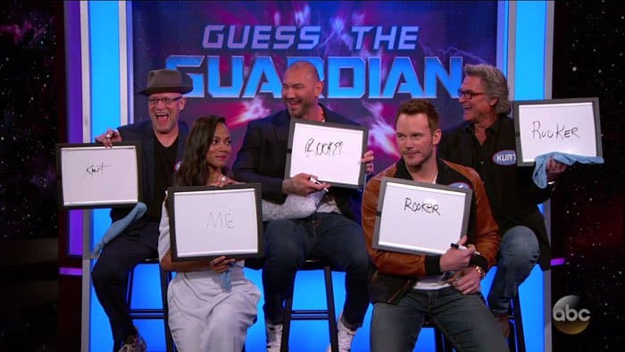 "The cast of ""Guardians of the Galaxy Vol. 2"" play a guessing game"