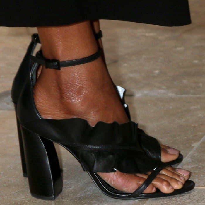 Zoe Saldana wearing Mercedes Castillo's 'Katrina' sandals
