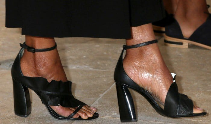 Zoe Saldana wearing Mercedes Castillo's 'Katrina' sandals