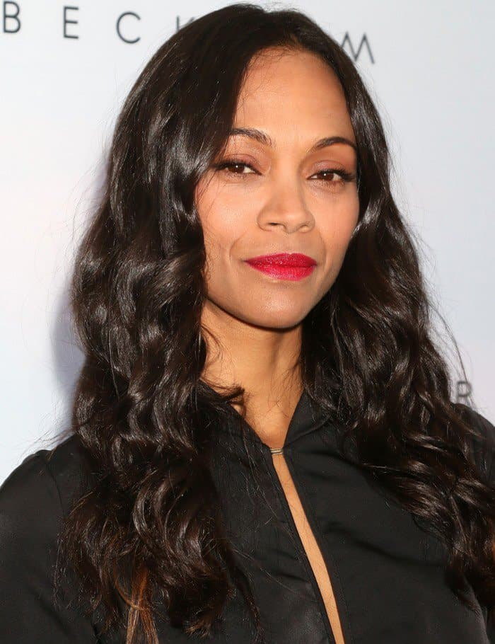 Zoe Saldana attends the launch of Victoria Beckham for Target collection in New York City on April 1, 2017