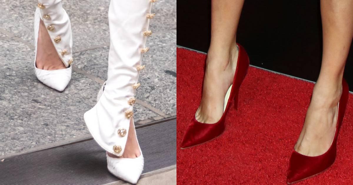 Cara Delevingne Wears Olgana Paris And Jimmy Choo Heels
