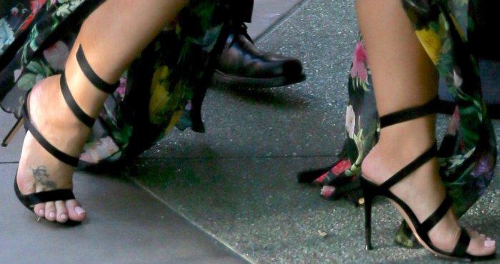 """Demi Lovato wearing Gianvito Rossi 'Opera' sandals at the 'Smurfs: The Lost Village"""""""