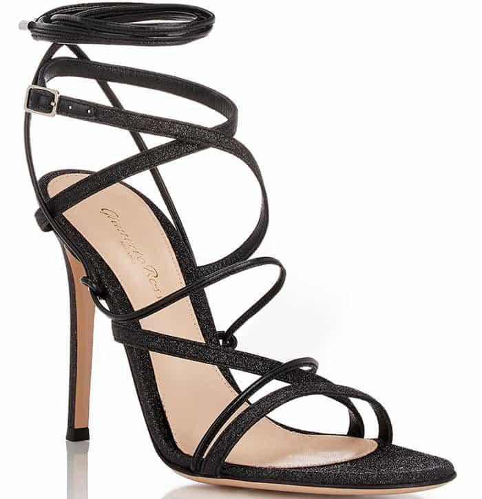 Gianvito Rossi Glitter Ankle-Strap Sandals
