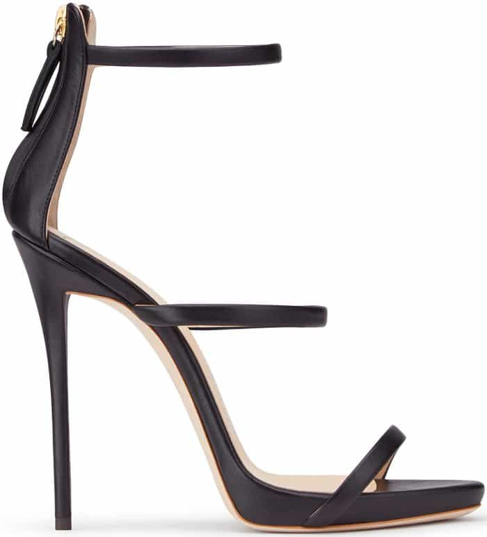 "Giuseppe Zanotti ""Harmony"" Sandals in Black Nappa Leather"