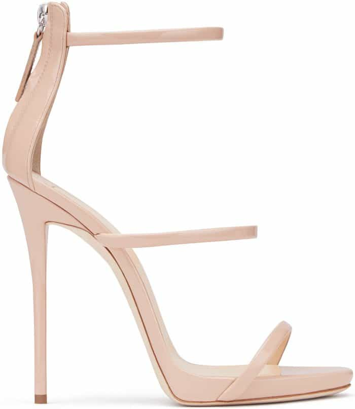 "Giuseppe Zanotti ""Harmony"" Sandals in Bronze Patent Leather"