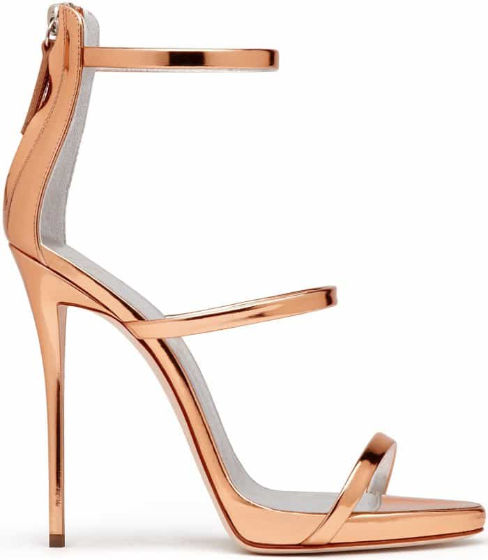 "Giuseppe Zanotti ""Harmony"" Sandals in Metallic Rose Gold"
