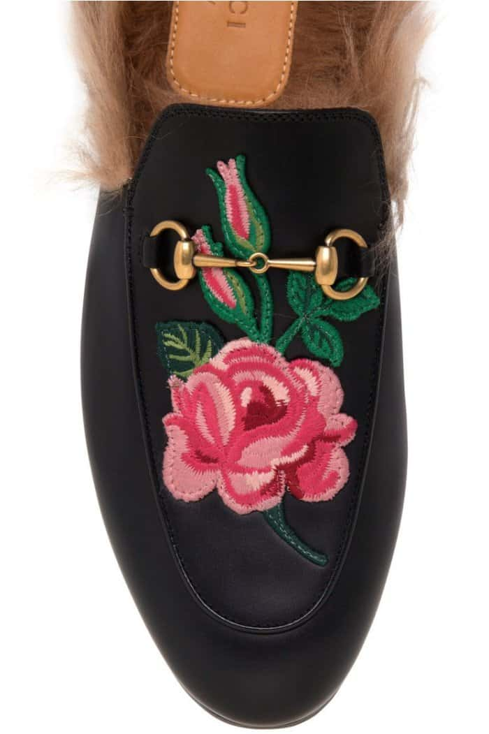"""Gucci """"Princetown"""" Slippers in Black Leather"""
