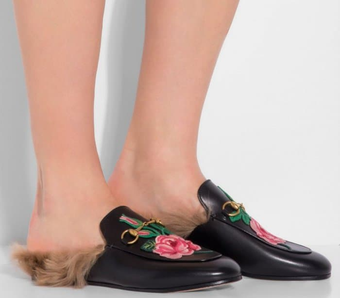 "Gucci ""Princetown"" Slippers in Black Leather"