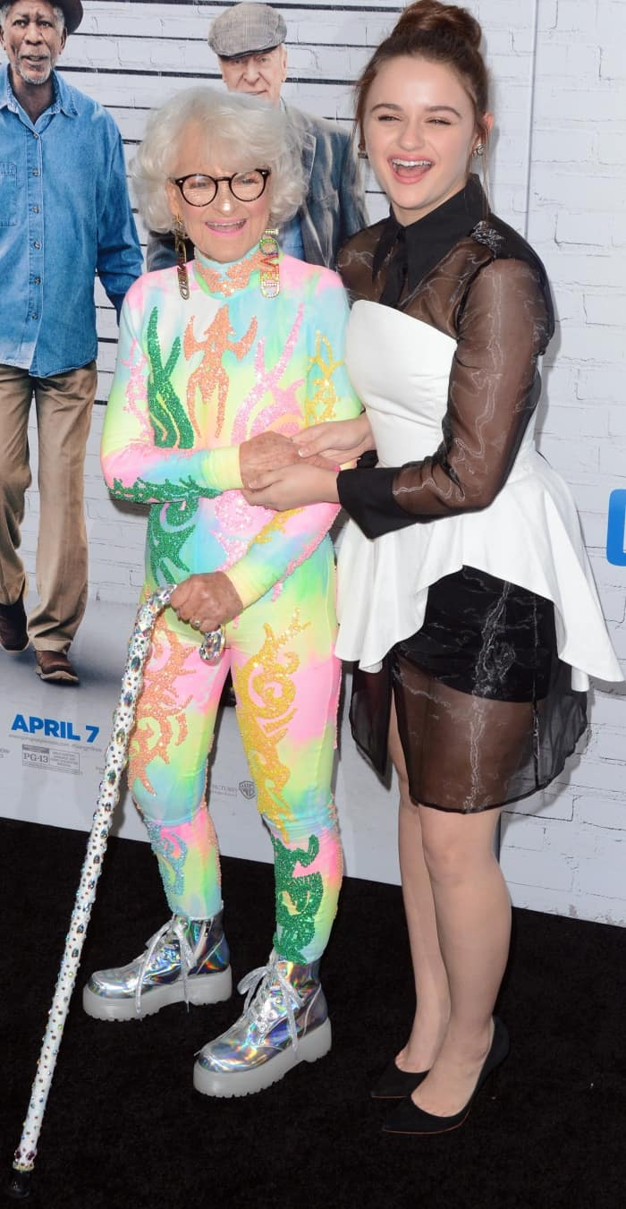 "Joey King with Baddie Winkle at the ""Going in Style"" New York premiere"
