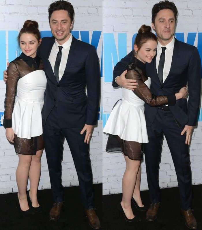 "Joey King with Zach Braff at ""Going in Style"" New York premiere"