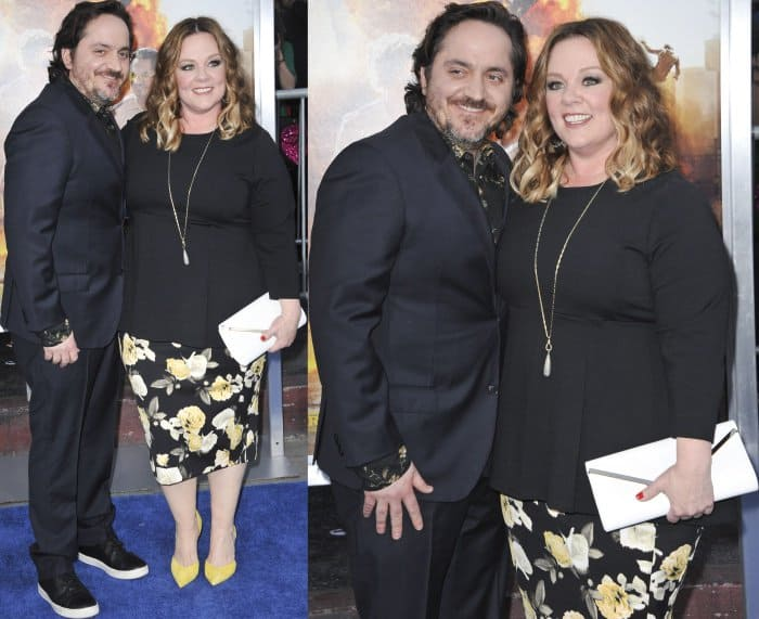 Ben Falcone and Melissa McCarthy at the 'Chips' Premiere