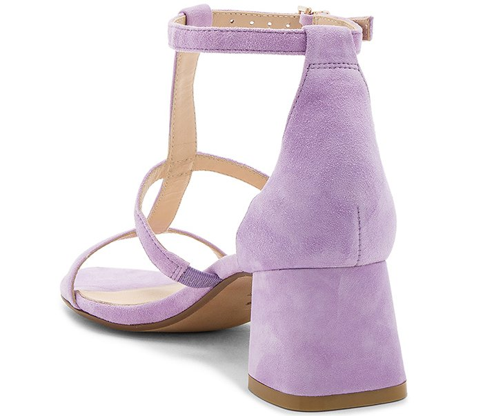 """Raye """"Aggie"""" Sandals in Lilac Suede"""