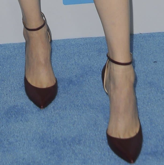 "Sofia Carson rocking Jimmy Choo ""Lucy"" pumps"