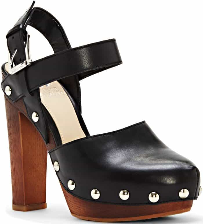 "Vince Camuto ""Elric"" Studded Platform Mules"
