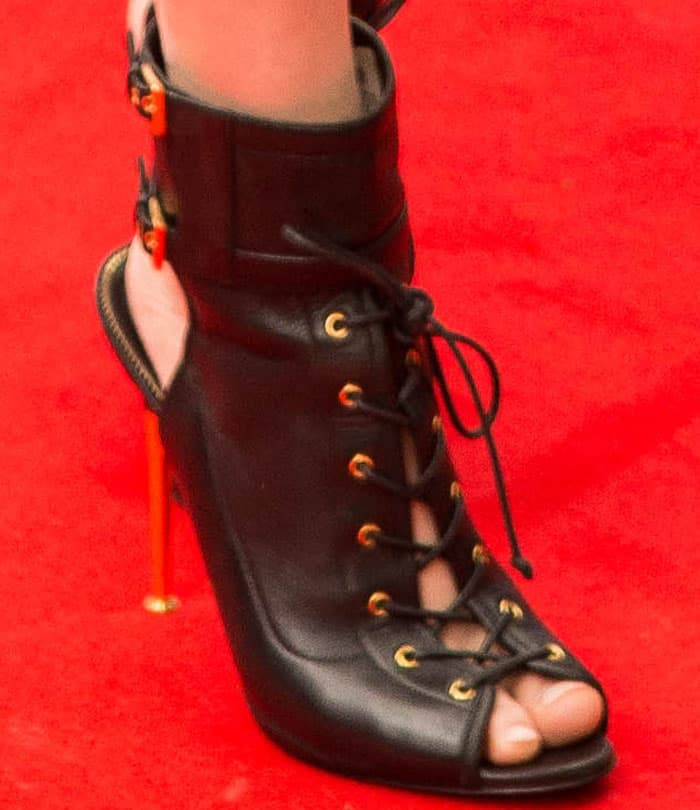 Alexandra wore a sexy pair of Tom Ford boots on the carpet