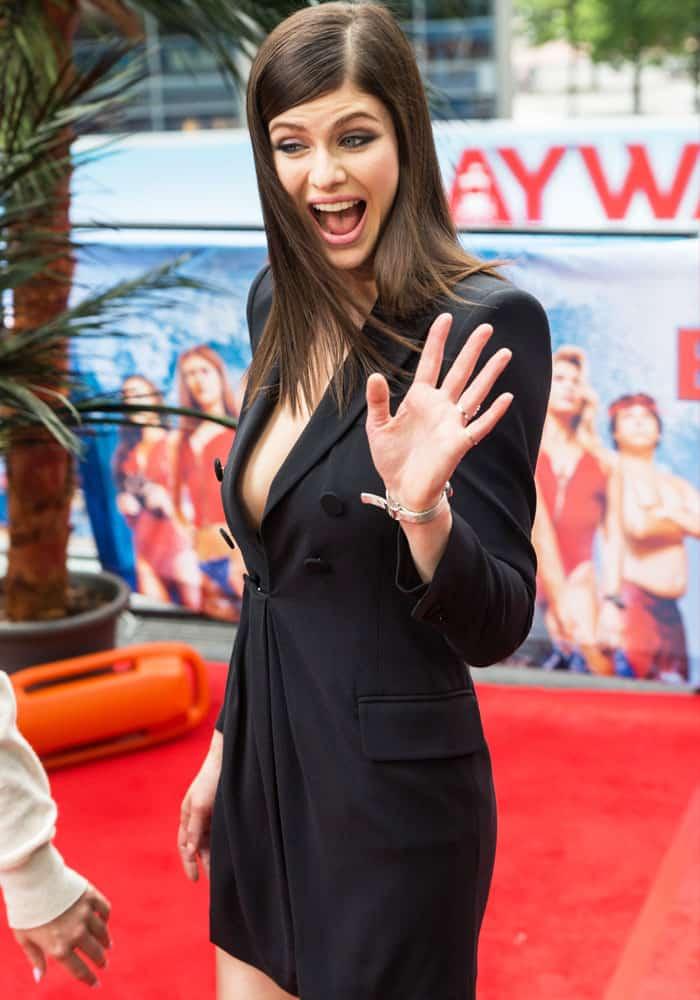 Alexandra Daddario Risks Wardrobe Malfunction In Dsquared2