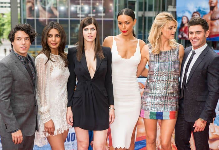 """Alexandra is joined by the rest of her """"Baywatch"""" co-stars including Priyanka Chopra and Zac Efron"""