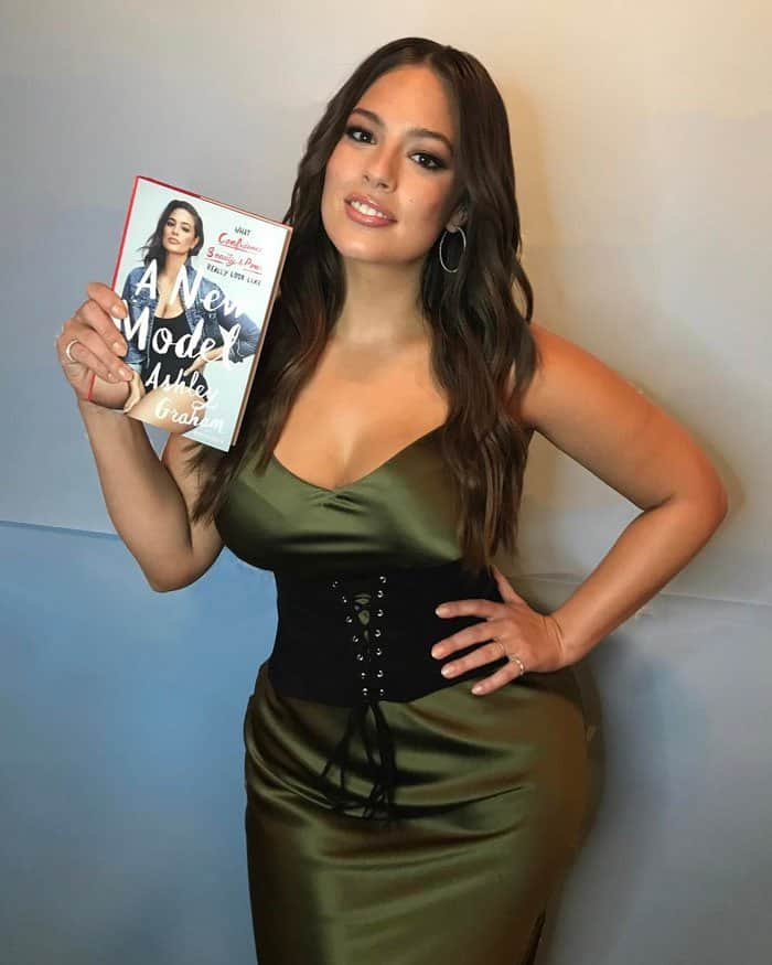 Ashley poses with her new book