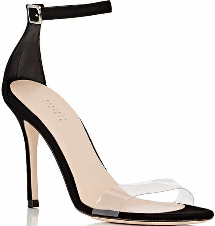 Barneys New York Suede PVC Sandals