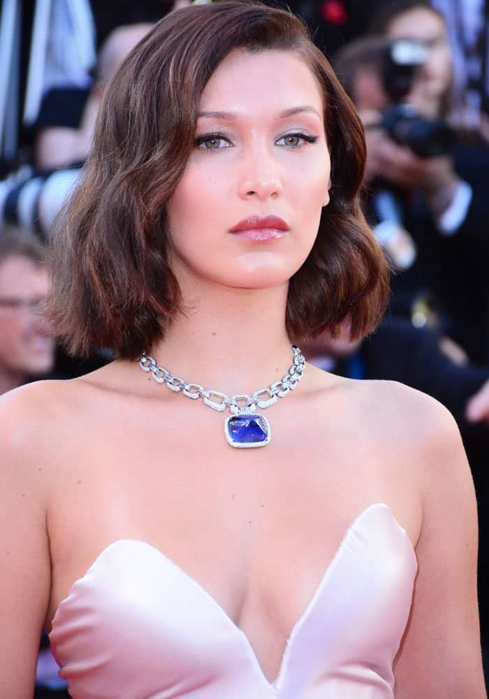 "Bella Hadid at the screening of ""Ismael's Ghosts"" at the 70th Cannes Film Festival at the Palais des Festivals in Cannes, France on May 17, 2017"