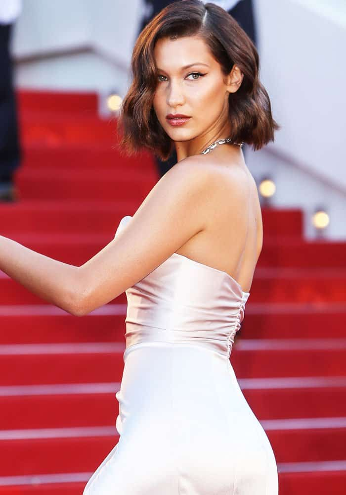 Bella does a look back on the infamous stairs of the Palais des Festivals in Cannes