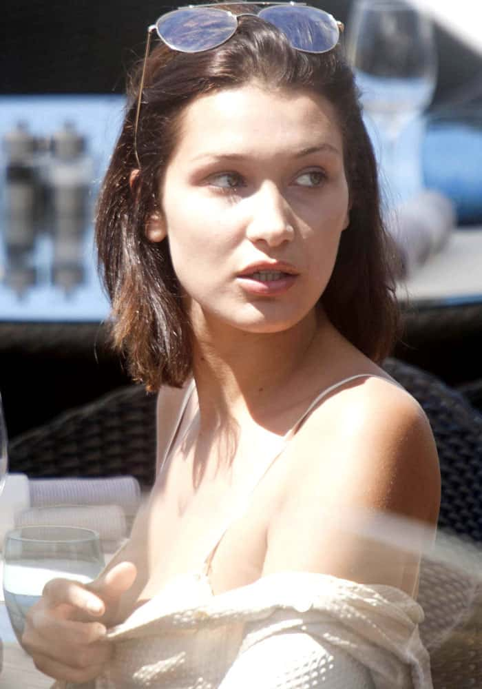 Bella Hadid at the 70th annual Cannes Film Festival in France on May 17, 2017