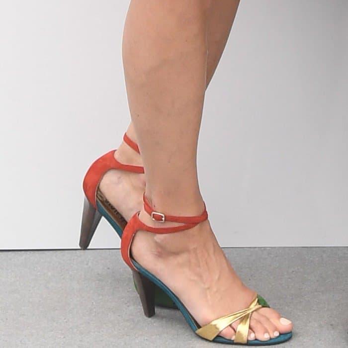 Berenice in Michel Vivien 'Pomezia' block heel sandals