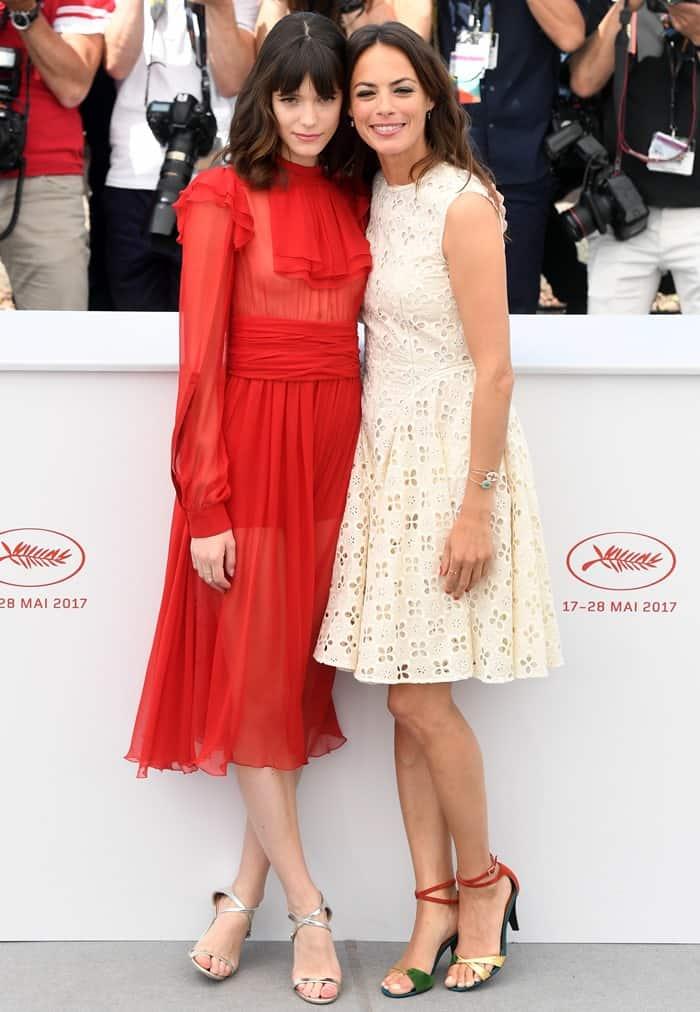 Stacy Martin and Berenice Bejo promoting Michel Hazanavicius' latest flick film 'Redoubtable'