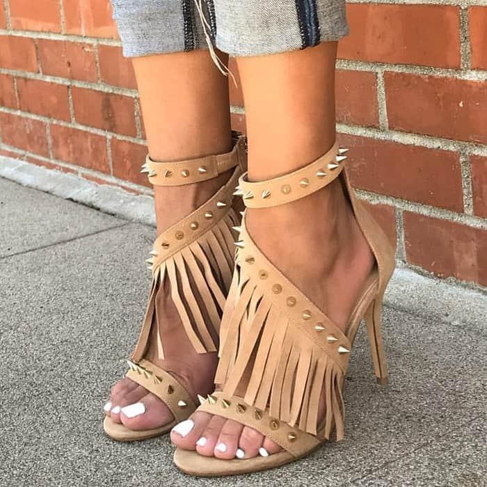 Studded Fringe 'Cristina' Sandals
