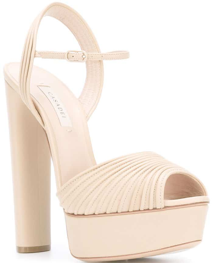 Casadei open toe platform sandals