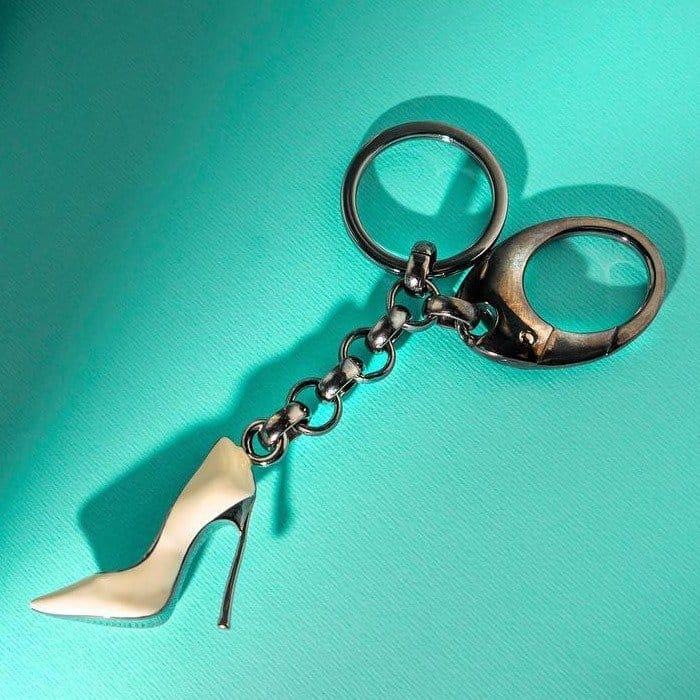 Hand-Enameled Casadei Keychain
