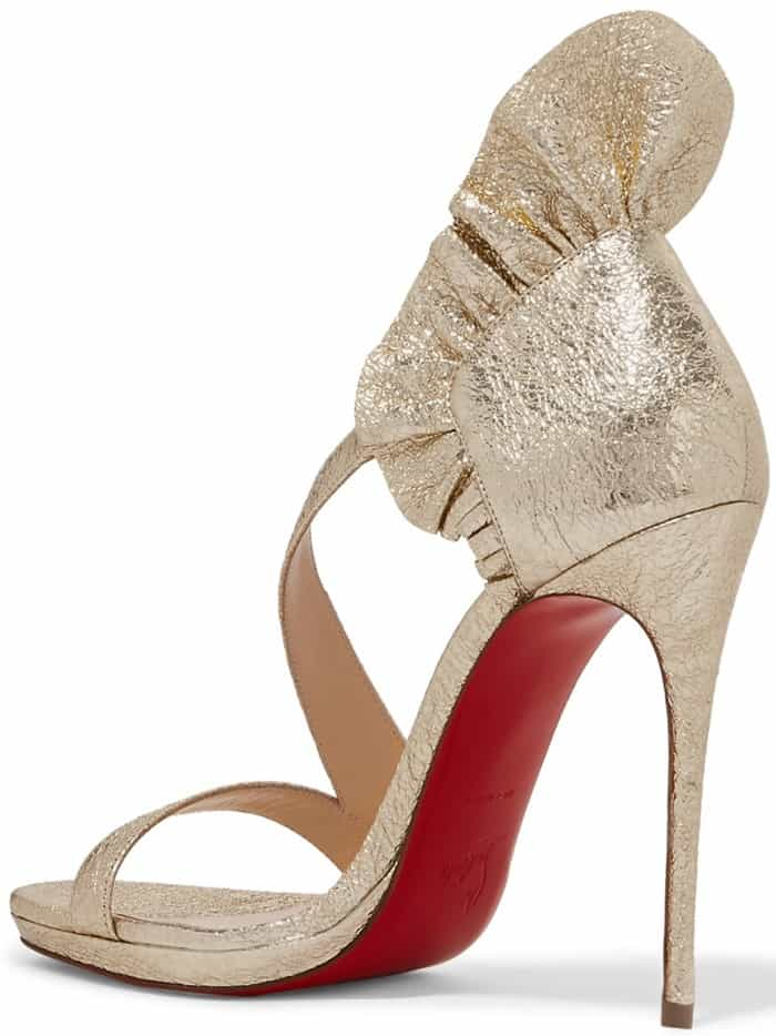 The ruffles on Christian Louboutin's 'Colankle' sandals elegantly frame your foot and have a lengthening effect