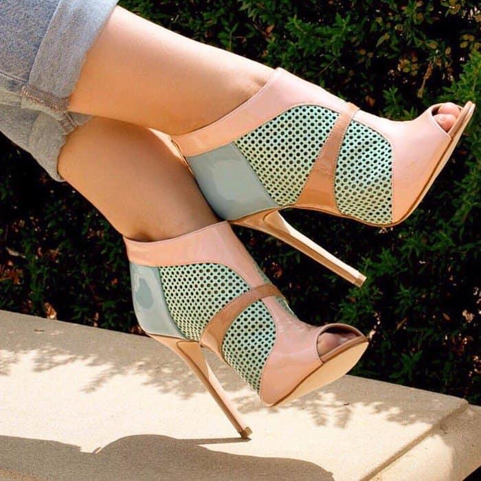 Laser Cut 'Claudia' Stiletto Booties