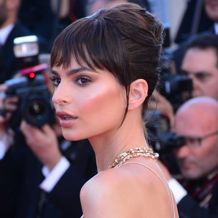 Emily Ratajkowski attending the Opening Gala screening of 'Ismael's Ghosts (Les Fantomes d'Ismael)' at the 70th annual Cannes Film Festival at Palais des Festivals in Cannes, France, on May 17, 2017