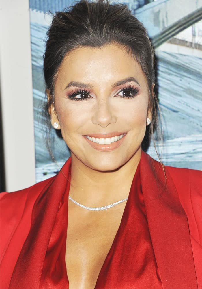 "Eva Longoria at the premiere of BH Tilt's ""Lowriders"" in Los Angeles on May 10, 2017"