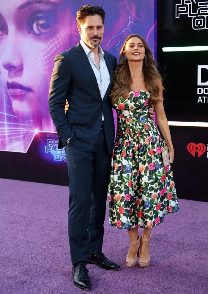Sofia Vergara and her husband Joe Manganiello coupled up for the 'Ready Player One' premiere