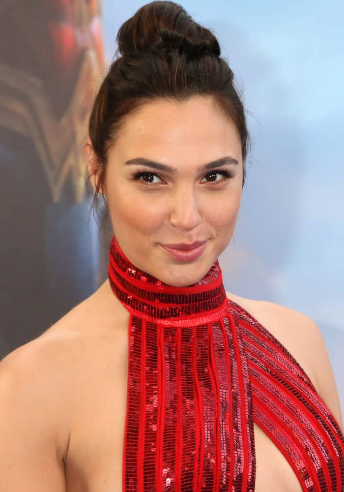 """Gal Gadot at the """"Wonder Woman"""" world premiere held at The Pantages Theatre in Hollywood on May 25, 2017"""