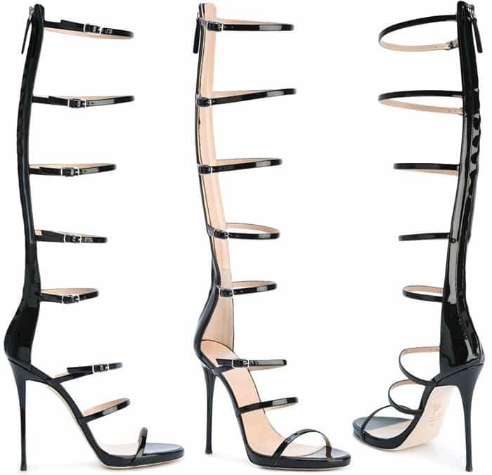 Giuseppe Zanotti Super Harmony sandals in black patent