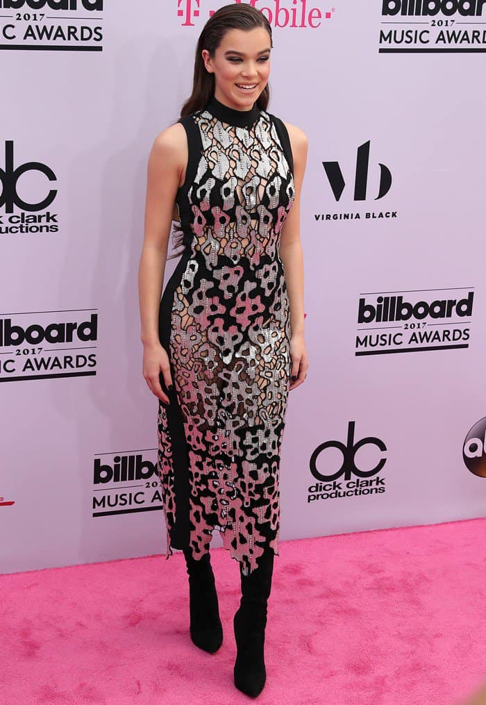 Hailee Steinfeld wearing David Koma at the 2017 Billboard Music Awards held at the T-Mobile Arena in Las Vegas on May 21, 2017