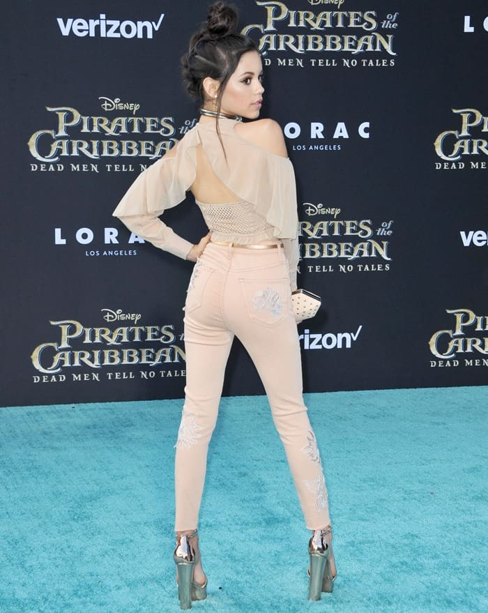"""Jenna Ortega attends the premiere of Disney's """"Pirates Of The Caribbean: Dead Men Tell No Tales"""""""