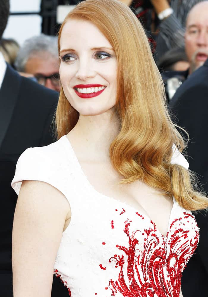 Jessica Chastain attending the closing night of the 70th Cannes Film Festival at the Palais des Festivals in Cannes, France on May 28, 2017