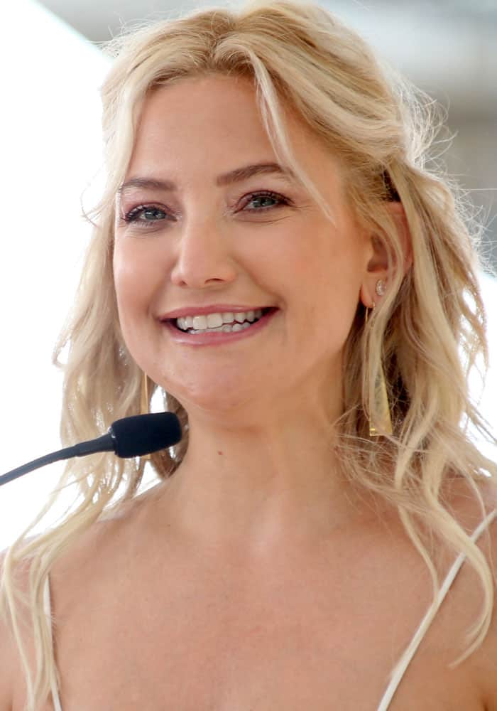 Kate Hudson at Goldie Hawn and Kurt Russell's double star ceremony at the Hollywood Walk of Fame in Los Angeles on May 4, 2017